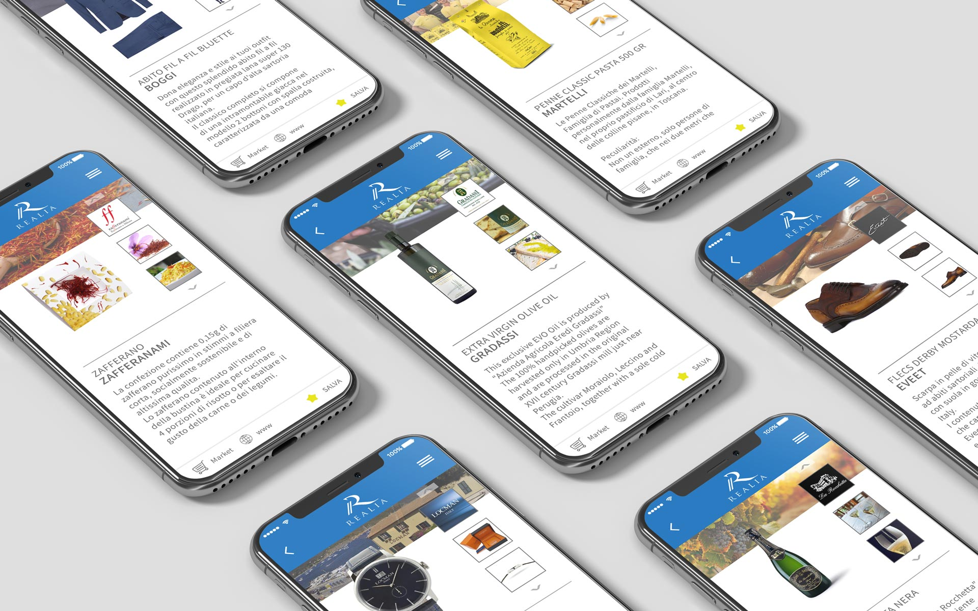 Prova l'app Realia e scopri l'autentico Made in Italy